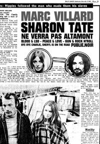 Marc Villard - Sharon Tate ne verra pas Altamont - Une plongée USA 1969 par le maître français du noir....