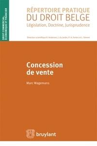 Marc Wagemans - Concession de vente.
