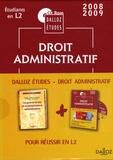 Marceau Long - Dalloz Etudes Pack en 2 volumes : Les grands arrêts de la jurisprudence administrative ; CD-Rom Droit administratif - Etudiants en L2. 1 Cédérom