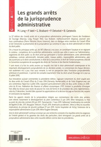 Les grands arrêts de la jurisprudence administrative 22e édition
