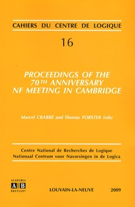 Proceedings of the 70th anniversary NF meeting in Cambridge - Marcel Crabbé |