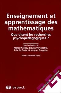 Marcel Crahay et Lieven Verschaffel - Enseignement et apprentissage des mathématiques - Que disent les recherches psychopédagogiques ?.