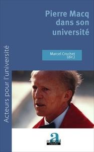 Marcel Crochet - Pierre Macq dans son université.