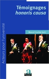 Marcel Crochet - Témoignage Honoris Causa.