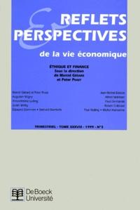 Accentsonline.fr REFLETS ET PERSPECTIVES N°3 TOME XXXVIII 1999 : ETHIQUE ET FINANCE Image