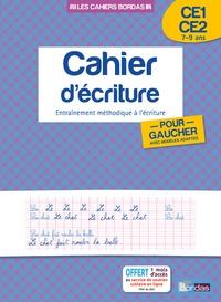 Marcel Guyonnet - Cahier d'écriture pour gauchers avec modèles adaptés CE1-CE2 - Entraînement méthodique à l'écriture.