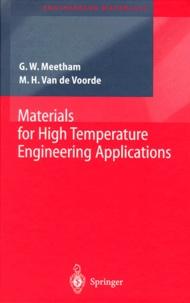 Materials for High Temperature Engineering Applications - Marcel-H Van De Voorde | Showmesound.org