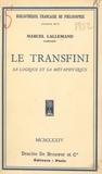 Marcel Lallemand et Jacques Maritain - Le transfini - Sa logique et sa métaphysique.