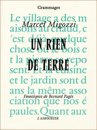 Marcel Migozzi - Un Rien de Terre.