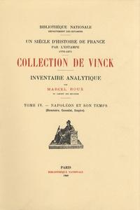 Histoiresdenlire.be Inventaire analytique de la collection De Vinck - Tome 4, Napoléon et son temps (Directoire, Consulat, Empire) Image