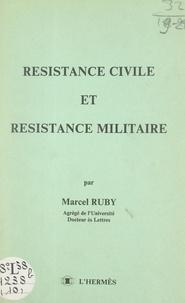 Marcel Ruby - Résistance civile et résistance militaire.
