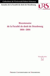 Marcel Thomann - Bicentenaire de la Faculté de droit de Strasbourg - 1804-2004.