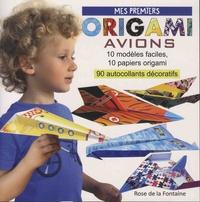 Marcelina Grabowska-Piatek - Mes premiers origami avions - 10 modèles d'avions faciles à réaliser, 10 papiers de couleur, 94 autocollants.