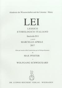 Marcello Aprile - Lessico Etimologico Italiano LEI - Fasicolo D11.