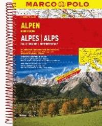 MARCO POLO Reiseatlas Alpen / Norditalien 1 : 300.000 - Mit landschaftlich schönen Strecken und Sehenswürdigkeiten. Übersichtskarte zum Ausklappen, Entfernungstabelle, Ortsregister, 22 Citypläne, Europateil.