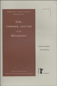Margaret Bent et Bonnie-J Blackburn - Lire, composer, analyser à la renaissance.