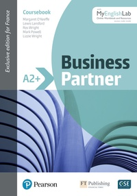Margaret O'Keeffe et Lewis Lansford - Business Partner A2+ - Coursebook. With MyEnglish Lab.
