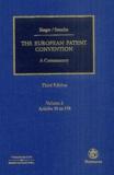Margarete Singer et Dieter Stauder - The European Patent Convention - Volume 2, Article 90 to 178.