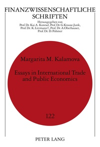 Margarita Kalamova - Essays in International Trade and Public Economics.