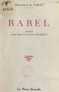 Marguerite de Sablet et Charles Maurras - Babel.
