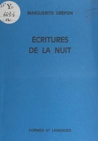 Marguerite Grépon - Écritures de la nuit - Essai de fixation d'une conscience colorée.