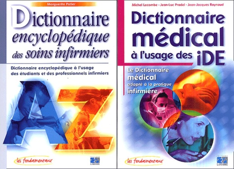 """Marguerite Potier et Michel Lacombe - Pack """"Duo-Dicos"""" : Dictionnaire médical à l'usage des iDE, Dictionnaire encyclopédique des soins infirmiers."""