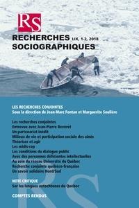 Marguerite Soulière et Jean-Marc Fontan - Recherches sociographiques. Vol. 59 No. 1-2, Janvier–Juillet 2018.