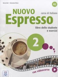 Maria Bali et Giovanna Rizzo - Nuovo Espresso 2 A2 - Libro dello studente e esercizi. 1 DVD