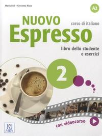 Maria Bali et Giovanna Rizzo - Nuovo espresso 2, corso di italiano - Libro dello studente e esercizi.