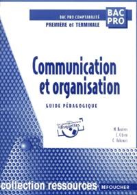Histoiresdenlire.be Communication et organisation Bac pro comptabilité 1ère et terminale. Guide pédagogique, avec 2 disquettes Image
