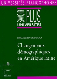 Maria Eugenia Cosio Zavala - Changements démographiques en Amérique latine.