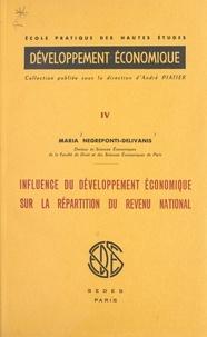 Maria Negreponti-Delivanis et  École Pratique des Hautes Étud - Influence du développement économique sur la répartition du revenu national.