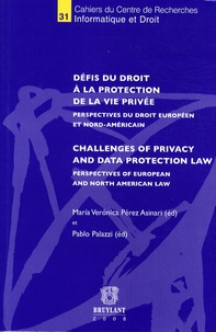 Maria Veronica Pérez Asinari et Pablo Palazzi - Défis du droit à la protection de la vie privée.