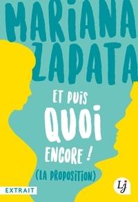 Mariana Zapata - Et puis quoi encore ! (extrait gratuit).
