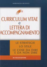 Mariangela Rustico - Curriculum Vitae e lettera di accompagnamento.