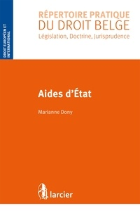 Marianne Dony - Aides d'Etat.