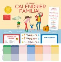 Marianne Doubrère - Le grand calendrier familial - Avec 64 magnets pour les enfants, 1 bloc liste de courses, 1 bloc petites urgences, + de 600 stickers, 10 aimants, 2 trombones.