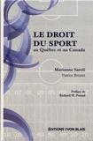 Marianne Saroli - Le droit du sport au Québec et au Canada.