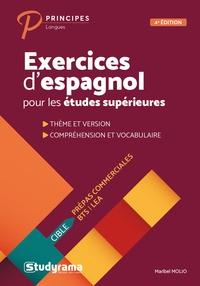 Maribel Molio - Exercices d'espagnol pour les études supérieures.