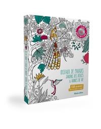 Deedr.fr 150 coloriages pour se détendre et s'évader - Coffret en 3 volumes : Oiseaux de paradis ; Jardin des délices ; Arbres de vie Image