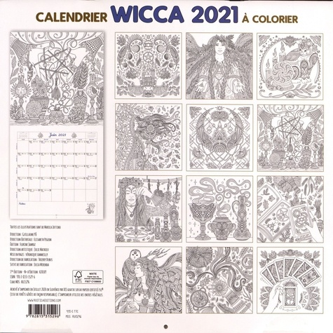 Calendrier wicca à colorier. Pour une année d'inspiration magique !  Edition 2021