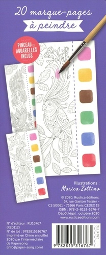 Oiseaux du paradis. Avec pinceau et aquarelles