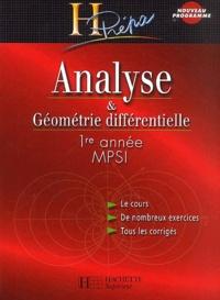 Marie Allano-Chevalier et Xavier Oudot - Analyse & Géométrie différentielle 1ère année MPSI.