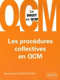 Marie-Andrée Rakotovahiny - Les procédures collectives en QCM.