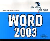 Marie-Ange Maurri Le Bouter - Word 2003.