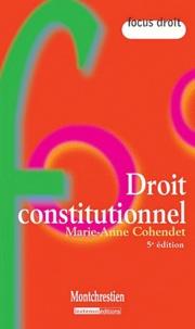 Marie-Anne Cohendet - Droit constitutionnel.