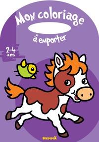 Marie-Anne Didierjean - Mon coloriage à emporter poney.