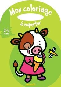 Marie-Anne Didierjean - Mon coloriage à emporter Vache.