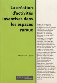 Marie-Anne Lenain - La création d'activités inventives dans les espaces ruraux.