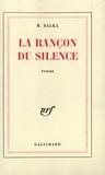 Marie Balka - La rançon du silence.
